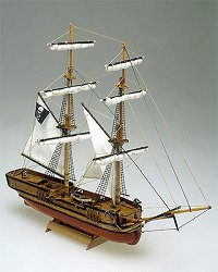 Пиратски кораб - Captain Morgan - Сглобяем модел от дърво -