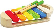 Шарен ксилофон - Детски музикален инструмент от дърво - играчка