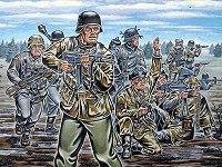 Войници от немската пехотна войска - макет