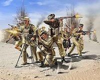 Войници от шотландската пехотна войска - макет