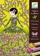 Оцветявай с брокат - Блестящи рокли - Творчески комплект за рисуване - играчка