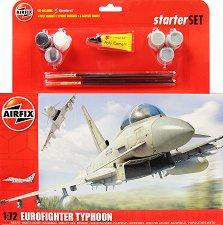 Военен изтребител - Eurofighter Typhoon - Сглобяем авиомодел - комплект за начинаещи - макет
