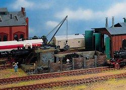 ЖП склад за въглища с кран за товарене - Сглобяем модел -