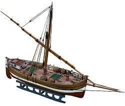 Лодка за превоз на товари - IL Leudo - Сглобяем модел от дърво -