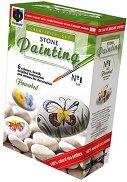 Рисувай върху камъчета - Цветна поляна - играчка