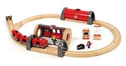 Влакче - метро с релси - Дървена играчка - играчка
