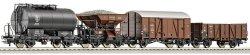 Четири товарни вагона - ЖП модели -