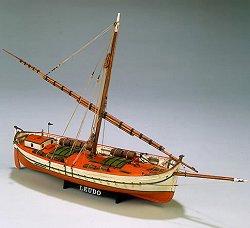 Търговски катер - Leudo - Сглобяем модел от дърво -