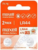 Бутонна батерия LR44 / SR44 - Алкална 1.5 V - 2 броя - батерия