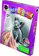 """Създай сам гравюра - Коте - Творчески комплект от серията """"Repoussage"""" -"""