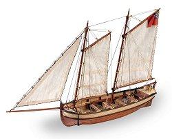 """Лодка от H.M.S. """"Endeavour"""" - Сглобяем модел от дърво -"""