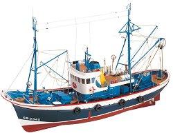 Marina II - Сглобяем модел риболовен кораб от дърво с възможност за радиоуправление -