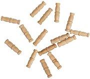 Комплект двойни колони - 15 броя - Резервни части за корабни модели и макети - макет