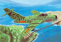Военен изтребител - Миг 15 - Сглобяем авиомодел -