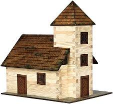 Църква - Сглобяем модел от дърво - макет