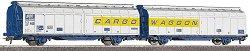 Товарни вагони с плъзгащи се стени - ЖП модели - комплект от 2 бр. -
