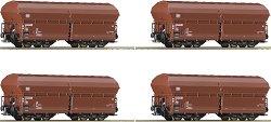 Саморазтоварващи се вагони Tad-u 961 - ЖП модели - комплект от 4 бр. -