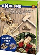 """Открий части от динозавърски скелет - Образователен комплект от серията """"Откривател"""" - пъзел"""