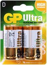 Батерия D - Ултра алкална (LR20) - 2 броя -