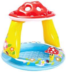 Надуваем бебешки басейн със сенник - Гъбка - играчка