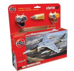 Изтребител - BAe Harrier GR9 - Сглобяем модел - голям стартов комплект -