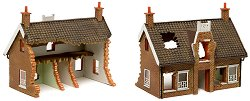 Руини на сграда - European Country Cottage - Модел за оцветяване - продукт