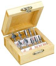Комплект мини фрезери за дърво - 10 бр. - продукт