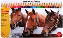 Цветни моливи - Комплект от 36 цвята в метална кутия