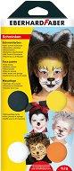 Бои за рисуване върху лице - Животни - Комплект от 4 цвята