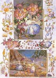 Декупажна хартия - Чаеното парти на принцесите феи 106