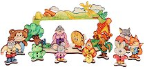 Куклен театър - Дървен конструктор за оцветяване - топка