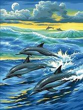 Нарисувай сам шедьовър - Делфини - детски аксесоар