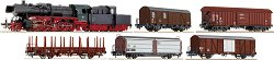 Влак с парен локомотив BR 50 и 5 товарни вагона - ЖП модели - макет