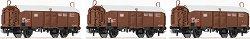 Товарни вагони с плъзгащи се покриви - ЖП модели - комплект от 3 броя -
