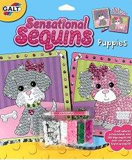 Създай сама картина с пайети - Кученца - Творчески комплект - детски аксесоар