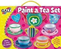 Нарисувай сам - Сервиз за чай - Творчески комплект за рисуване - фигура