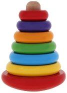 Пирамида - невеляшка - Дървена играчка за нареждане - играчка
