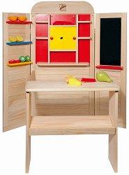 Куклен театър и магазин - 2 в 1 - Дървена играчка - играчка