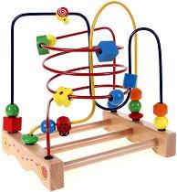 """Голяма цветна градинка с калинка - Дървена играчка от серията """"Лабиринт"""" - играчка"""