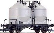 Товарен вагон с два силоза - KDS 54 - ЖП модел -
