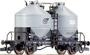 Товарен вагон с два силоза - VTG - ЖП модел -