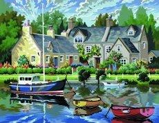 Нарисувай сам - Лодки - Творчески комплект за рисуване с акрилни бои - творчески комплект
