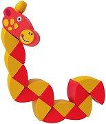 Жираф - Дървена играчка с подвижни елементи - детски аксесоар