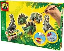 Направи сам фигурки от глина - Динозаври - Творчески комплект -
