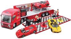 Камион-автосервиз и кола - раница