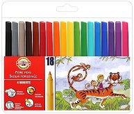 Флумастери - Комплект от 18 цвята