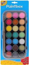 Водни бои - Комплект от 21 цвята + четка