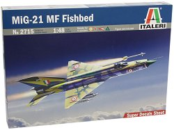 Изтребител - МиГ-21 MF Fishbed - Сглобяем авиомодел - макет