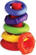 Конус с цветни рингове - количка