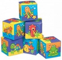 """Меки кубчета - Морски обитатели - Играчки за баня от серията """"Bath"""" -"""
